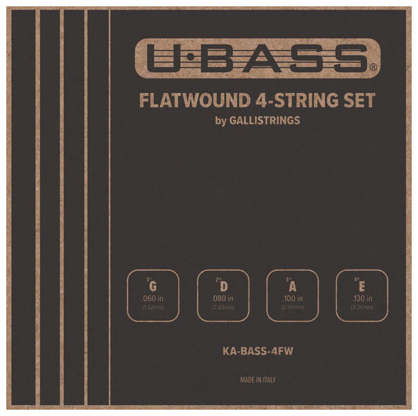 U-Bass Flatwound 4-String Set Kala
