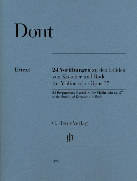 Henle Verlag Dont 24 Vorübungen zu Kreutzer