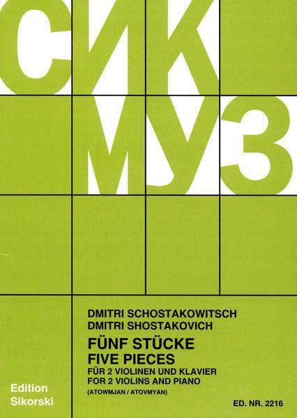 Schostakowitsch 5 Stücke VL Sikorski Musikverlage