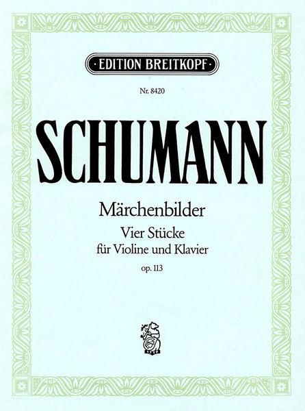 Breitkopf & Härtel Schumann Märchenbilder Violin
