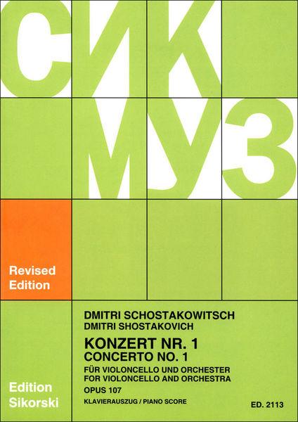 Sikorski Musikverlage Schostakowitsch Concert Nr.1