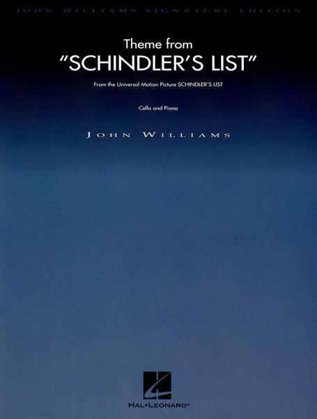 Hal Leonard Schindler's List Theme Cello