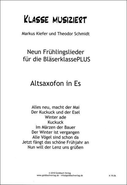Goldbach Verlag Frühlingslieder Alto Sax