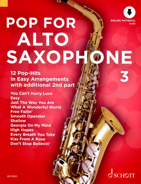 Pop For Alto Saxophone 3 Schott