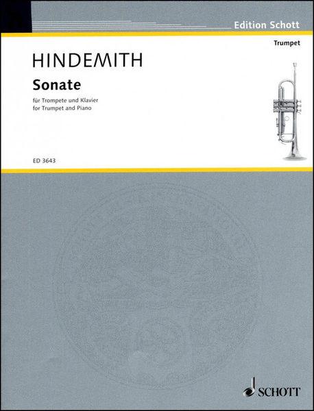 Schott Hindemith Sonate Trumpet