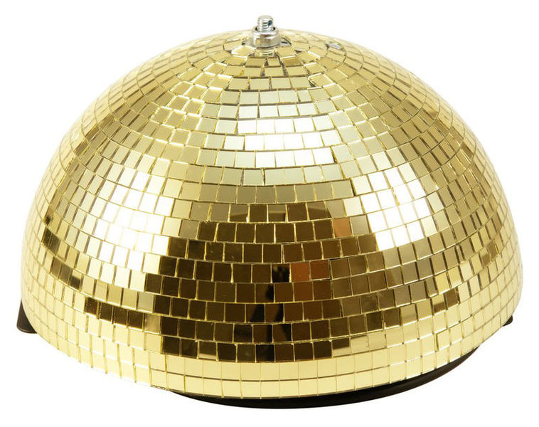 Eurolite Half Mirror Ball 30cm gold