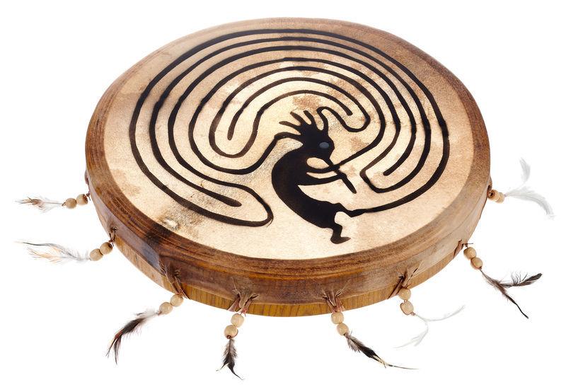 Terre Shaman Drum 45cm Kokopelli