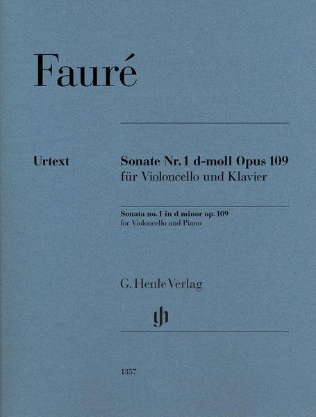 Henle Verlag Fauré Cellosonate Opus 109
