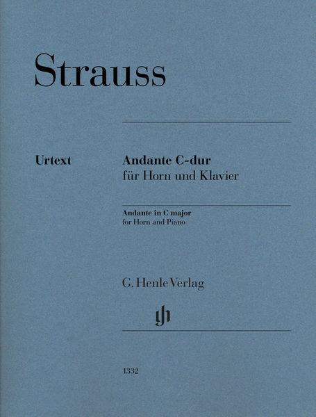 Henle Verlag Strauss Andante C-Dur Horn
