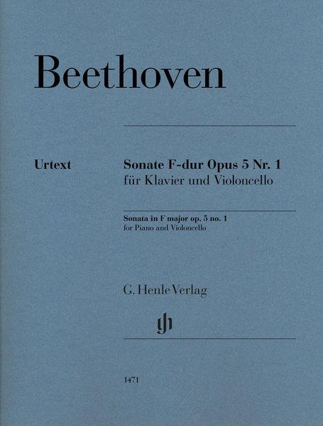 Henle Verlag Beethoven Sonate F-Dur Cello