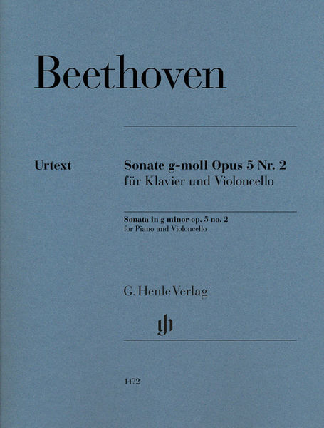 Henle Verlag Beethoven Sonate g-moll Cello