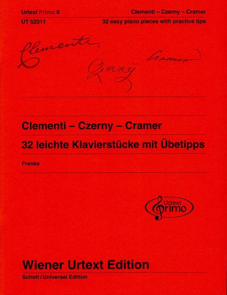 Wiener Urtext Edition Clementi-Czerny-Cramer Piano