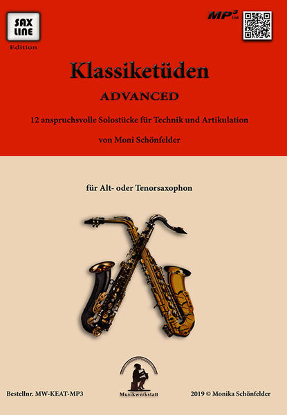 Saxline Edition Klassiketüden Advanced Sax
