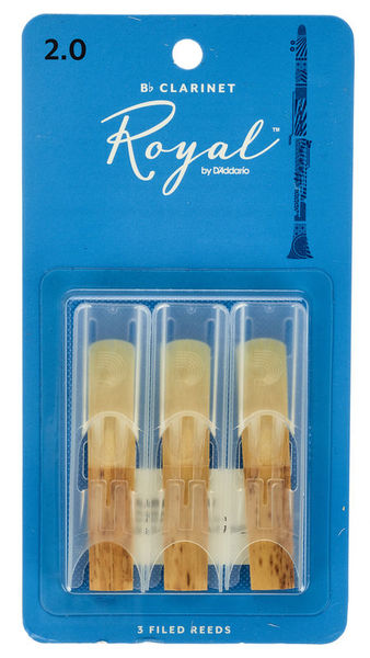 DAddario Woodwinds Royal Bb- Clar 2.0 - 3-Pack