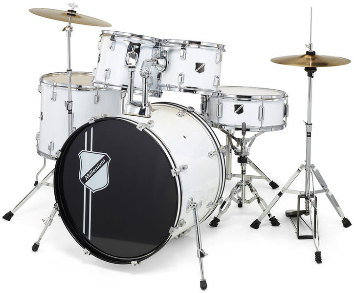 Focus 20 Drum Set White Millenium