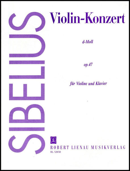 Sibelius Violin-Concert d-Moll Musikverlag Robert Lienau