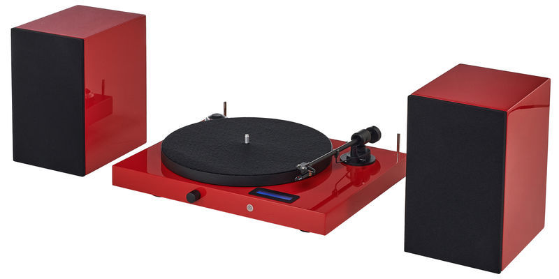 Pro-Ject Juke Box E HiFi Set red