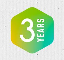 3 años de garantía